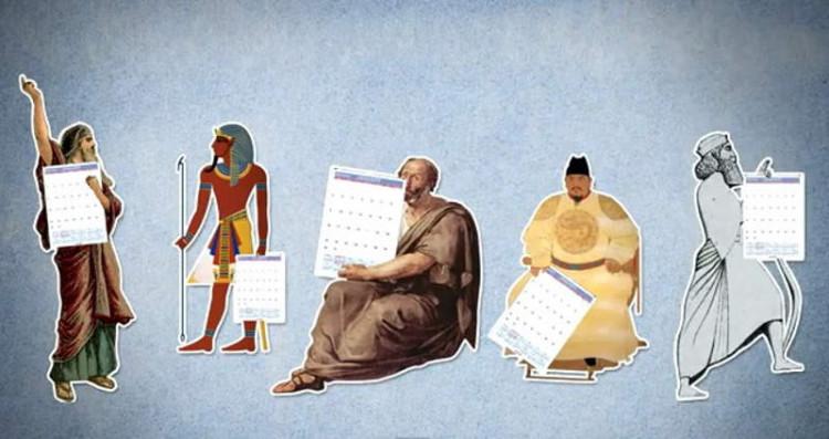 История календарей (египетский, солнечный, лунный, солнечно-лунный и григорианский)